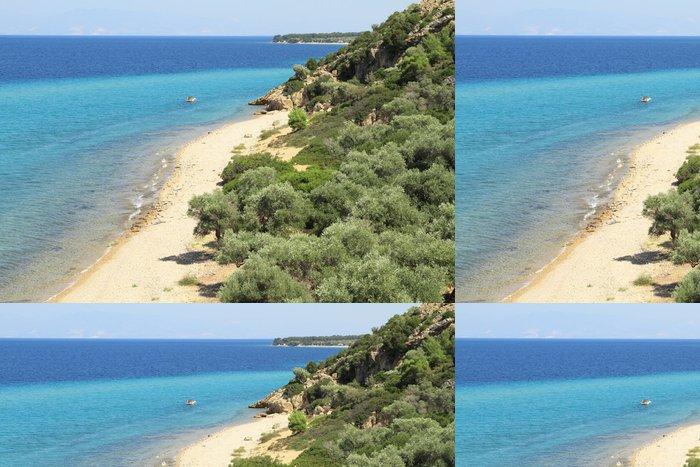 Tapeta Pixerstick Idylické pláže, na ostrově Thasos - Řecko - Evropa