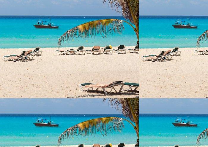 Tapeta Pixerstick Idylické pláži u Karibského moře v Mexiku - Prázdniny