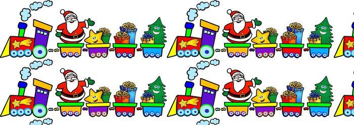 Tapeta Pixerstick Il treno di babbo Natale - Mezinárodní svátky