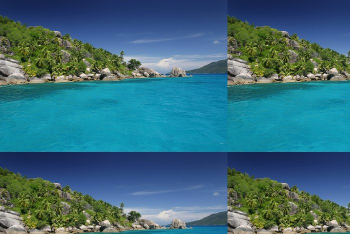 Tapeta Pixerstick Ile ráj Seychely tyrkysové moře lagon exotique tropique - Prázdniny