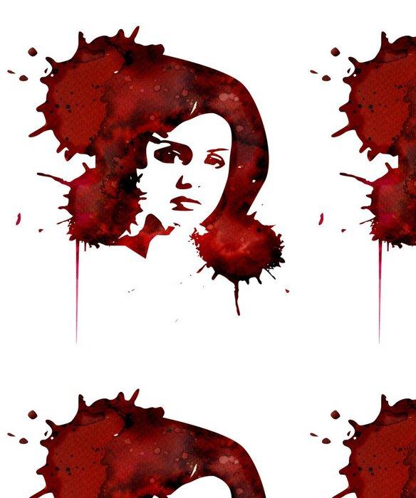 Vinylová Tapeta Ilustrace abstraktní portrét ženy - Žena