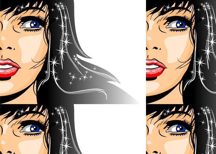 Tapeta Pixerstick Ilustrace brunetka žena - Témata