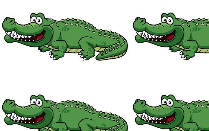 Tapeta Pixerstick Ilustrace Cartoon krokodýl vektoru - Ostatní Ostatní