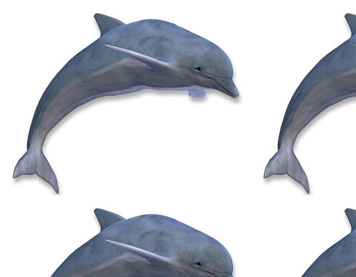 Tapeta Pixerstick Ilustrace skákání delfínů - Nálepka na stěny