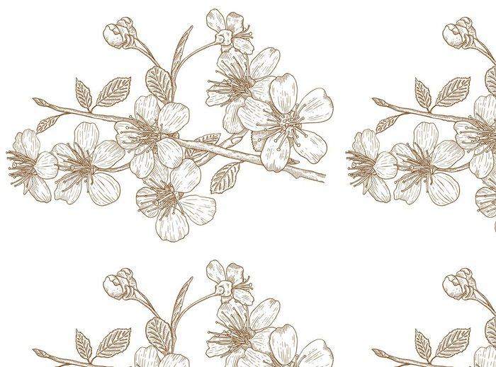 Tapeta Pixerstick Ilustrace třešňových květů - Stromy
