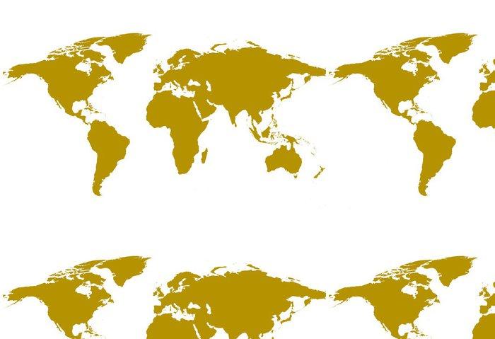 Tapeta Pixerstick Ilustrovaný pozadí světové mapě - Doplňky a věci