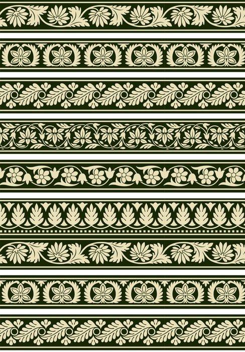 Tapeta Pixerstick Indian květinové hranic - Značky a symboly