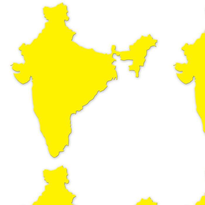 Tapeta Pixerstick Indie mapa ve vysoké kvalitě - Asie