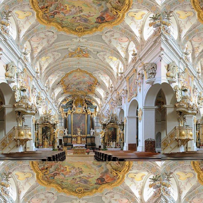 Tapeta Pixerstick Interiér baziliky sv Emmeram v Regensburgu, Německo - Témata