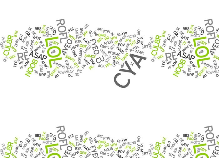 Tapeta Pixerstick Internet Chat Slang / Language / chatspeak - Značky a symboly