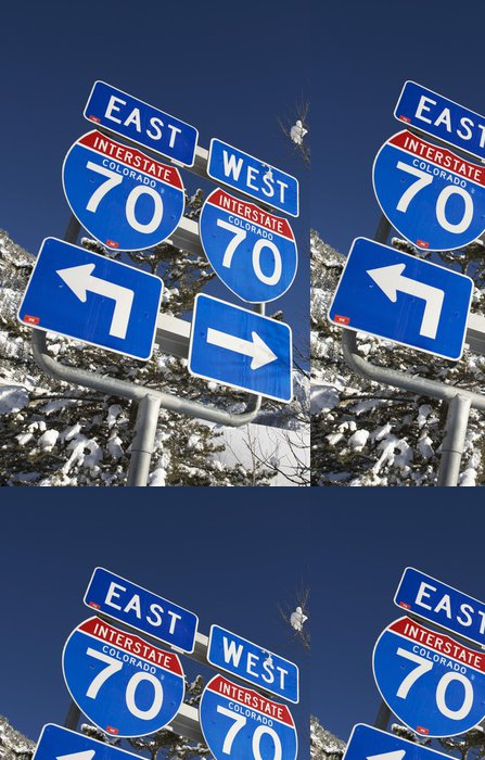 Tapeta Pixerstick Interstate 70 Colorado - Na cestě