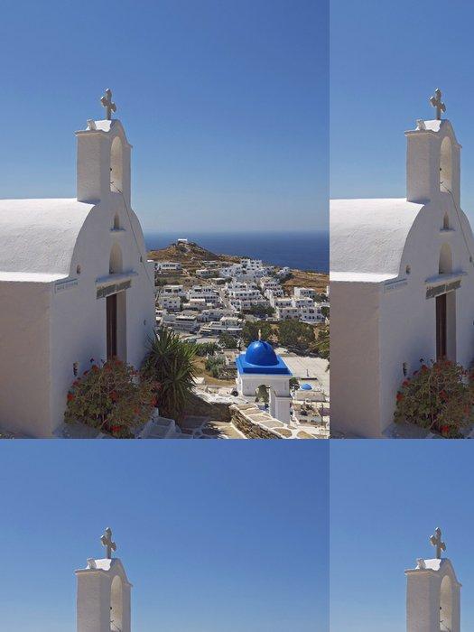 Tapeta Pixerstick Ios církev krajina, Řecko - Evropa