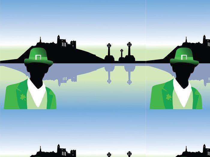 Tapeta Pixerstick Irsko scenérie vektor - Evropa