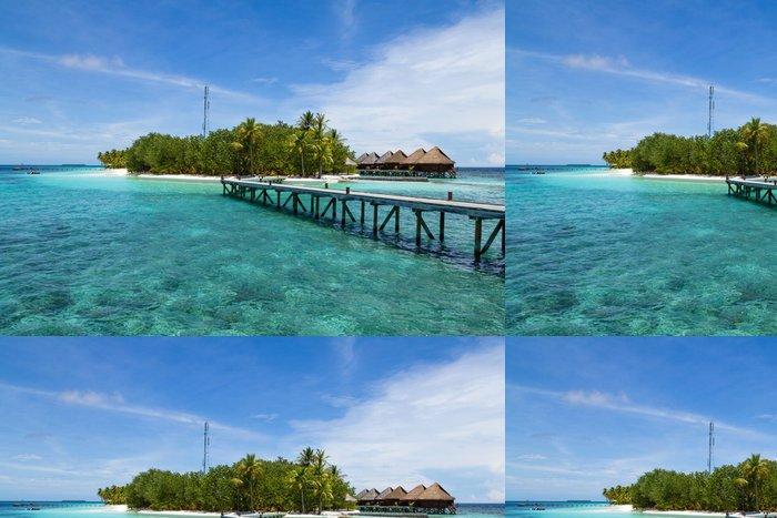Tapeta Pixerstick Island Resort, Maledivy - Asie