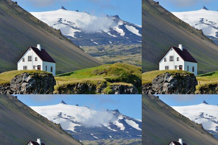Vinylová Tapeta Island - sopka Solheimajokull a ledovec - Hory