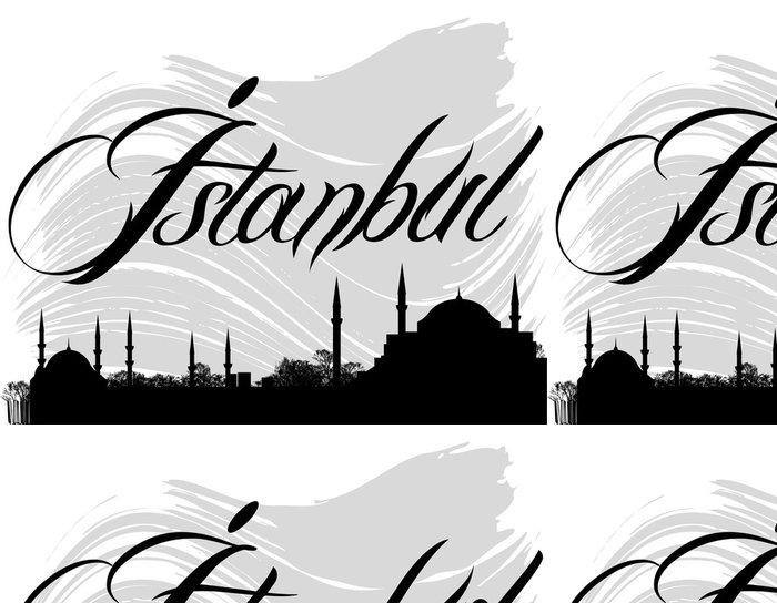 Tapeta Pixerstick İstanbul silueta - Náboženství
