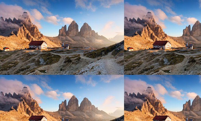 Vinylová Tapeta Itálie Alpy moutnain - Tre Cime di Lavaredo - Evropa