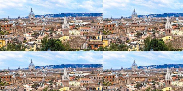 Vinylová Tapeta Itálie. Řím. Řím panorama. Panoráma - Evropská města