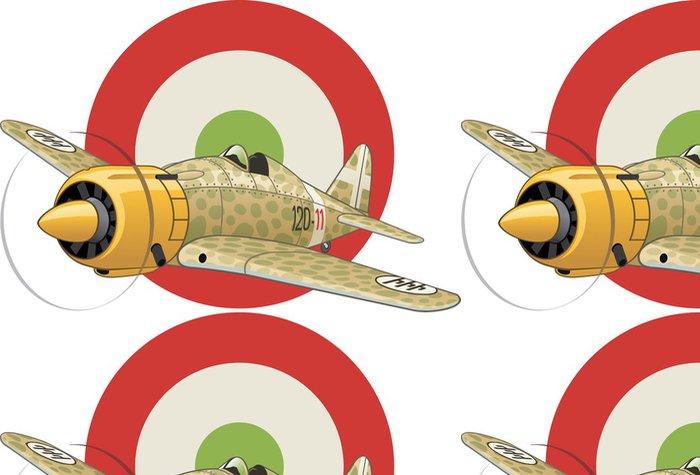 Vinylová Tapeta Italský WW2 letadlo na vzdušných sil odznakem pozadí - Násilí a zločin
