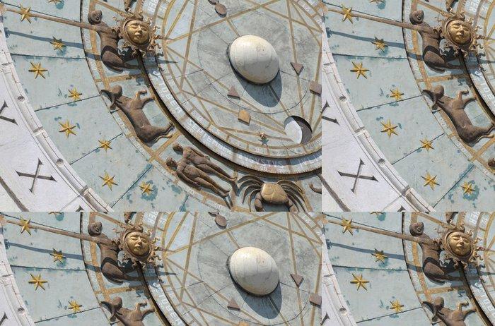 Tapeta Pixerstick Italy, Padua: Zvířetníkové nástěnné hodiny - Památky