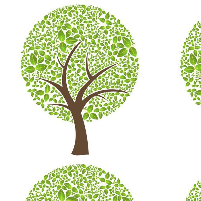 Tapeta Pixerstick Izolované abstraktní listová pružina času strom - Roční období