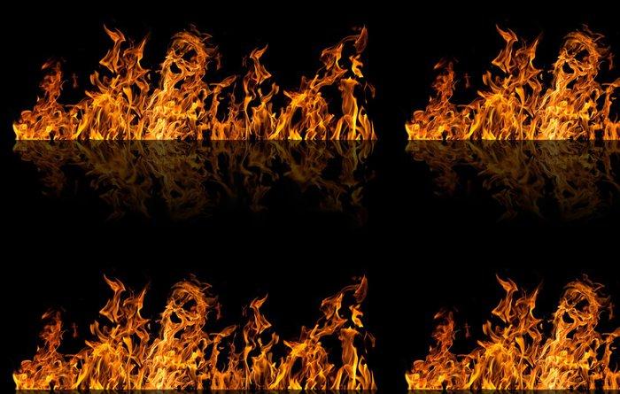 Tapeta Pixerstick Izolovaných na černém požární pruh s odrazem - Struktury
