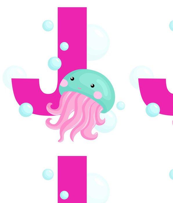 Tapeta Pixerstick J pro medúzy - Vodní a mořský život