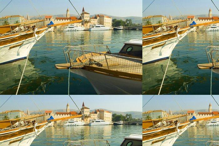 Tapeta Pixerstick Jachty v přístavu Trogir -