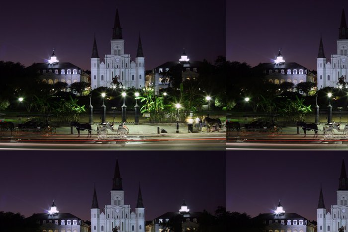 Tapeta Pixerstick Jackson square v noci - Město