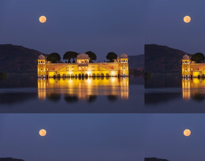 Vinylová Tapeta Jal Mahal (Vodní palác). Jaipur, Rajasthan, Indie - Památky