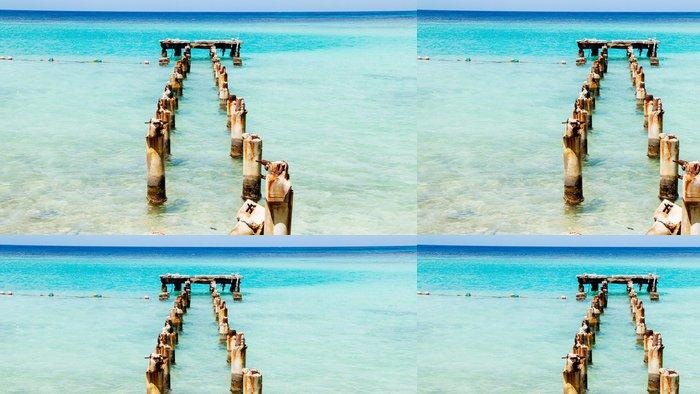 Tapeta Pixerstick Jamaica Modré Docks 1 - Amerika