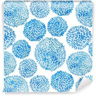 Vinylová Tapeta Japonská květina kruh vzoru.