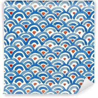 Vinylová Tapeta Japonská rybí kůže bezproblémové vzorek.