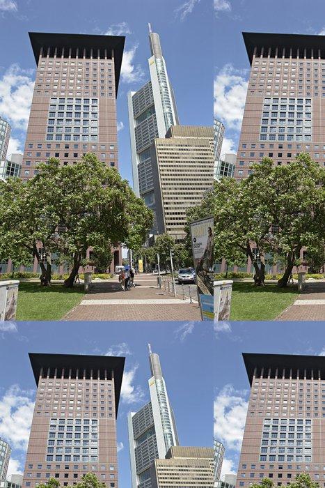 Vinylová Tapeta Japonsko-Tower und Commerzbank, Frankfurt - Finance