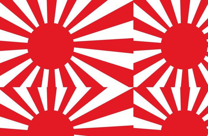 Tapeta Pixerstick Japonsko válka vlajka - Značky a symboly