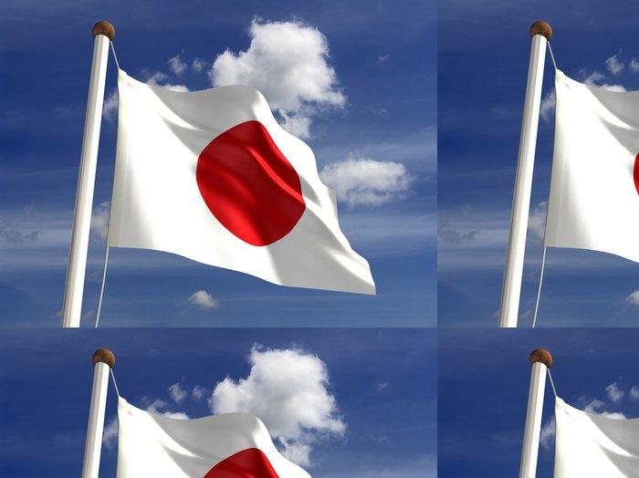 Vinylová Tapeta Japonsko vlajky (s ořezovou cestou) - Svoboda