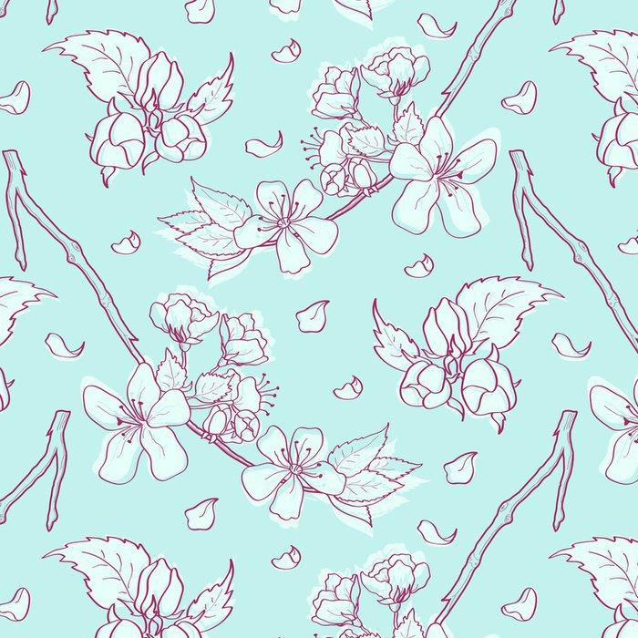 Tapeta Pixerstick Jarní květinové pozadí v pastelových barvách - Roční období