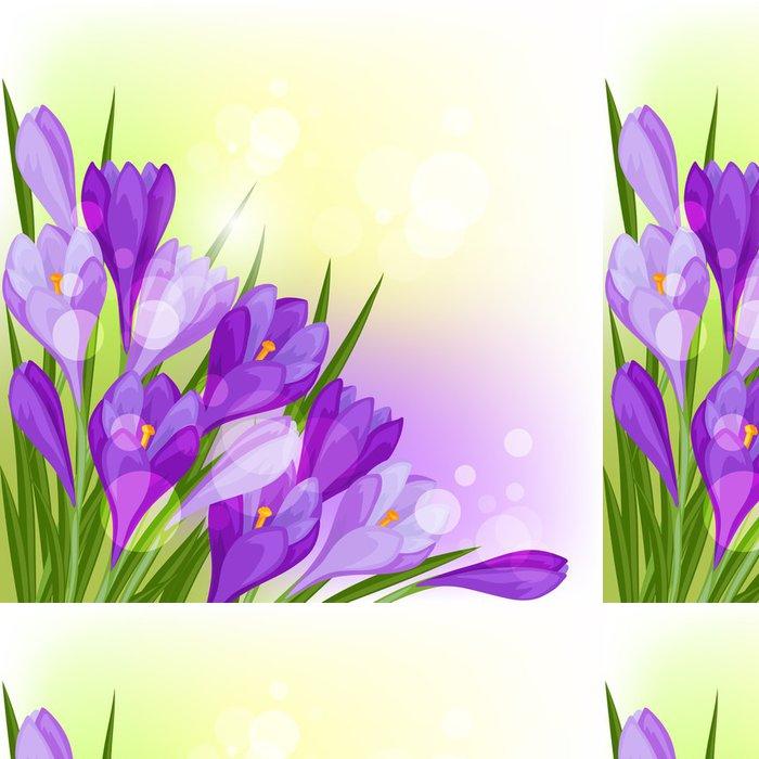 Tapeta Pixerstick Jarní květiny krokus přírodního pozadí. - Styly