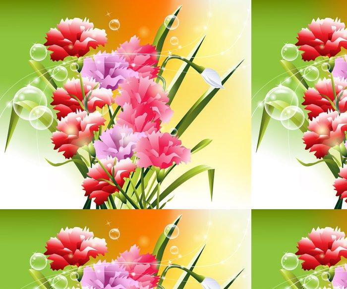 Tapeta Pixerstick Jarní květiny pozadí -
