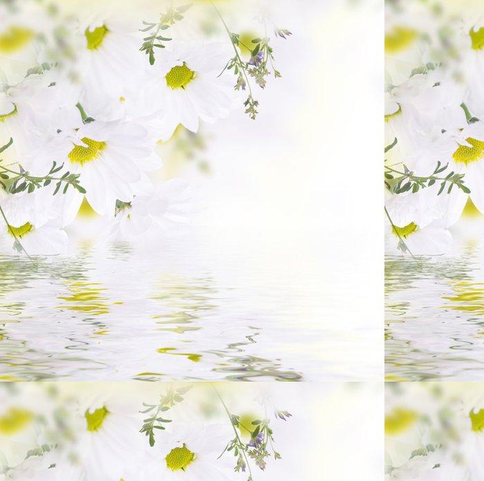 Tapeta Pixerstick Jarní kytice sedmikrásky, květinové pozadí - Květiny