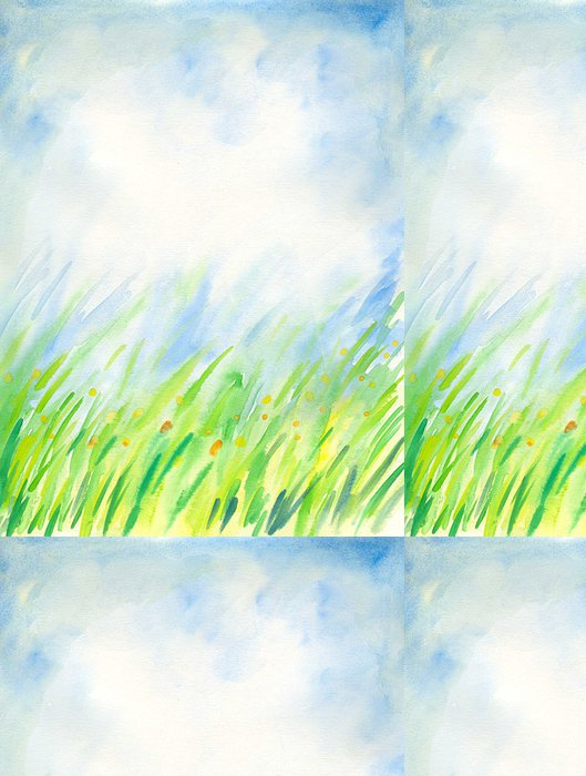 Tapeta Pixerstick Jarní pozadí akvarel malovaný. - Umění a tvorba