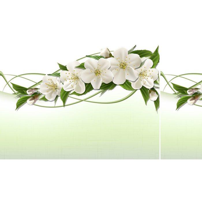 Vinylová Tapeta Jarní pozadí s bílými třešňové květy - Život