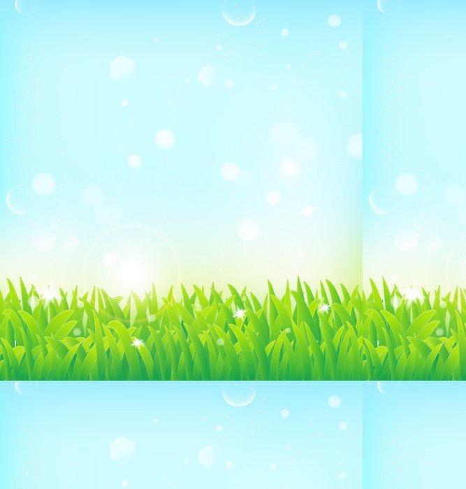 Vinylová Tapeta Jarní pozadí s trávou a světelnými efekty - Pozadí