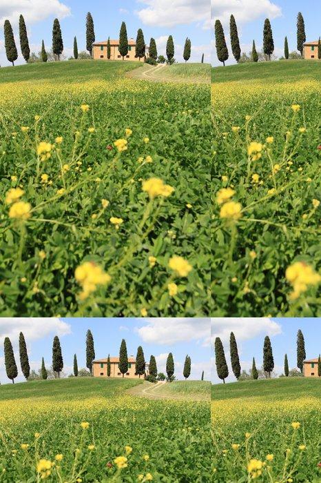 Tapeta Pixerstick Jaro v Toskánsku, Itálie - Evropa