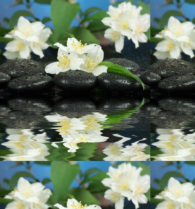 Vinylová Tapeta Jasmine s kameny pro lázeňské - Květiny
