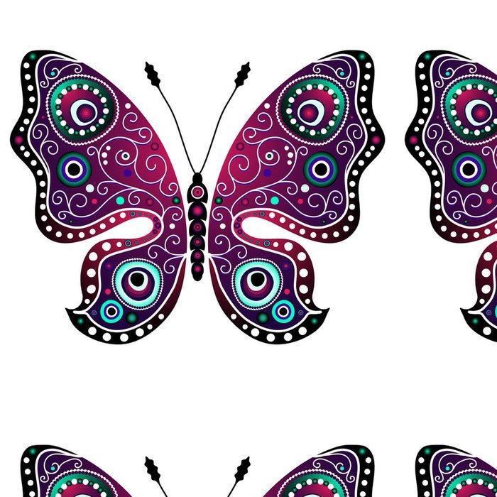 Vinylová Tapeta Jasný abstraktní motýl - Značky a symboly