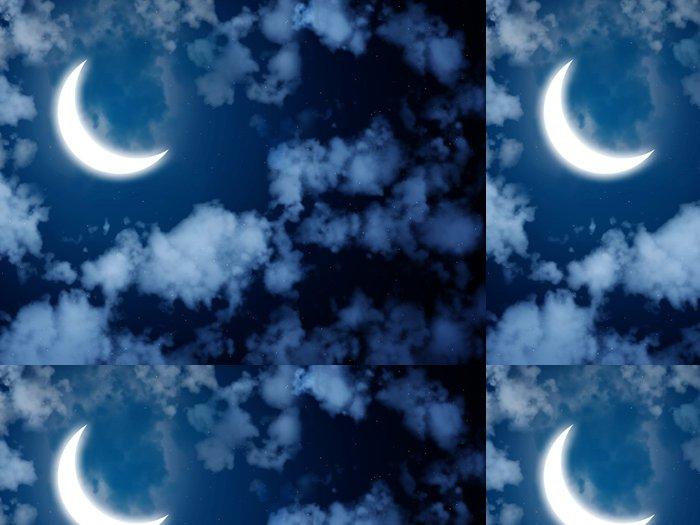 Tapeta Pixerstick Jasný měsíc na noční obloze - Meziplanetární prostor