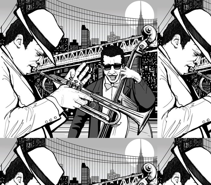 Tapeta Pixerstick Jazz v New Yorku - Jazz