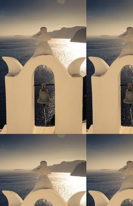 Vinylová Tapeta Jeden zvon na Santorini s výhledem moře - Náboženství