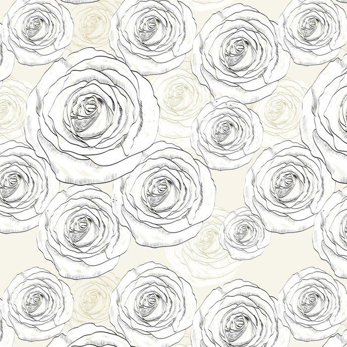 Tapeta Pixerstick Jednotný vzor - Květiny